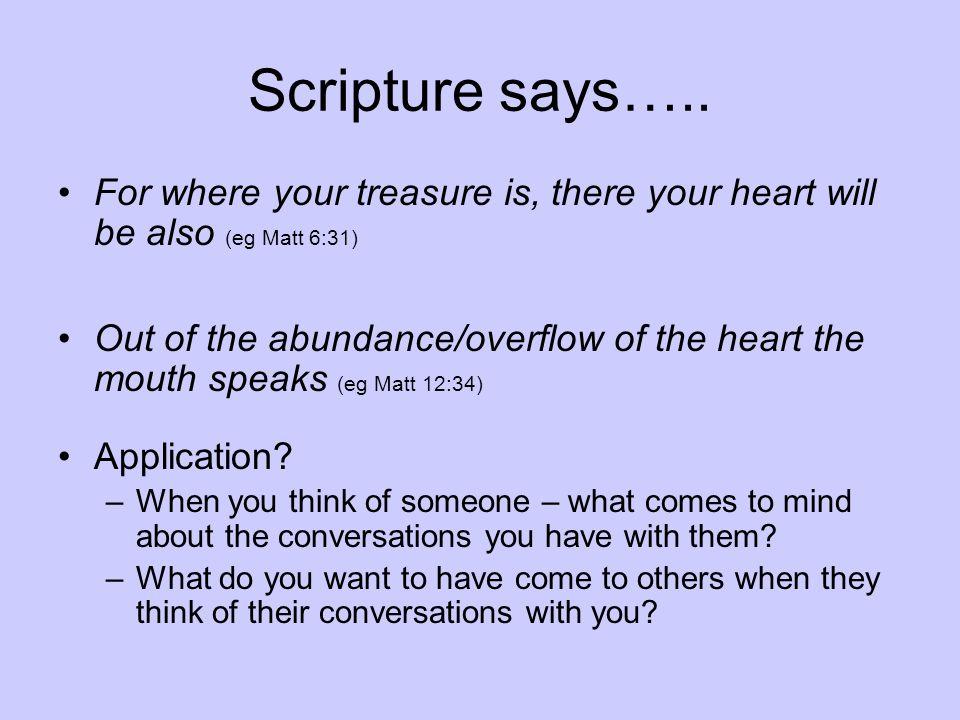Scripture says…..