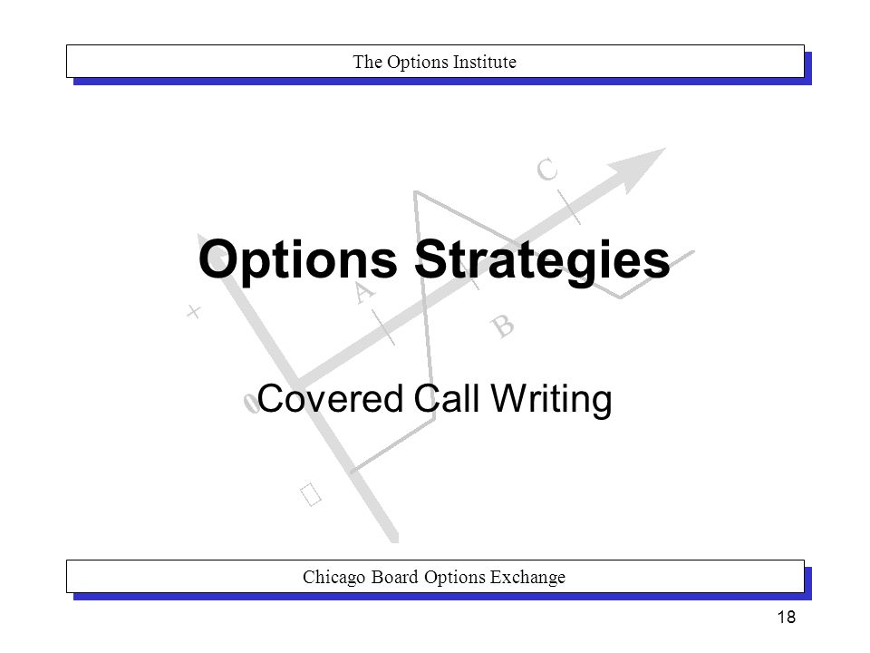 The Options Institute Chicago Board Options Exchange 18 Options Strategies Covered Call Writing