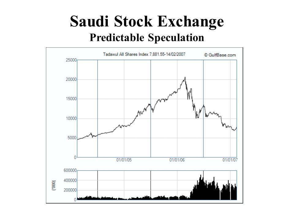 Saudi Stock Exchange Predictable Speculation