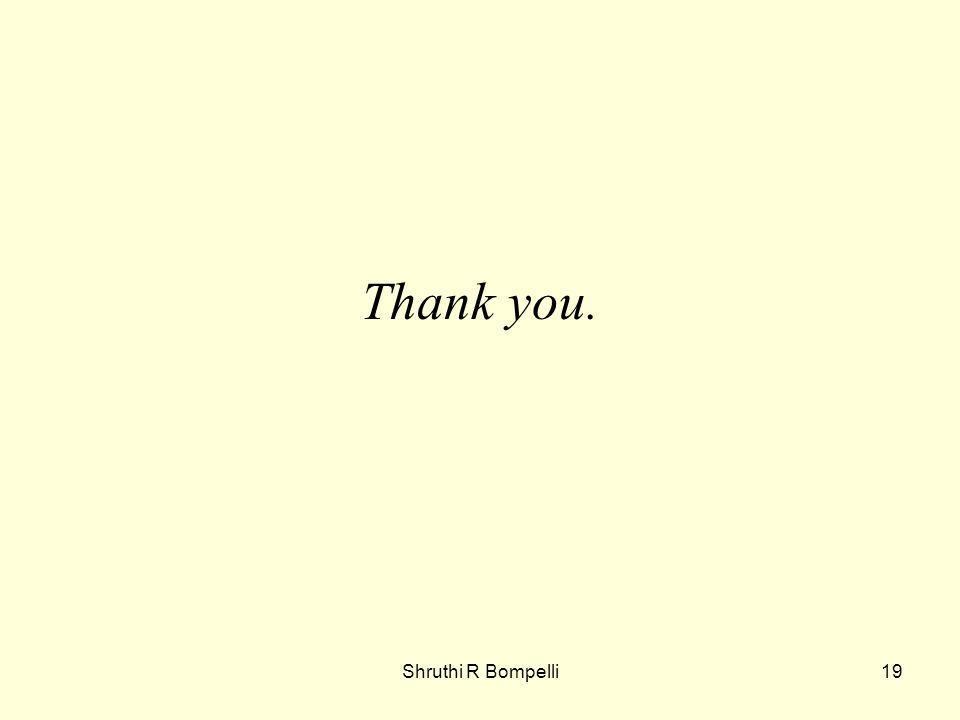 Shruthi R Bompelli19 Thank you.