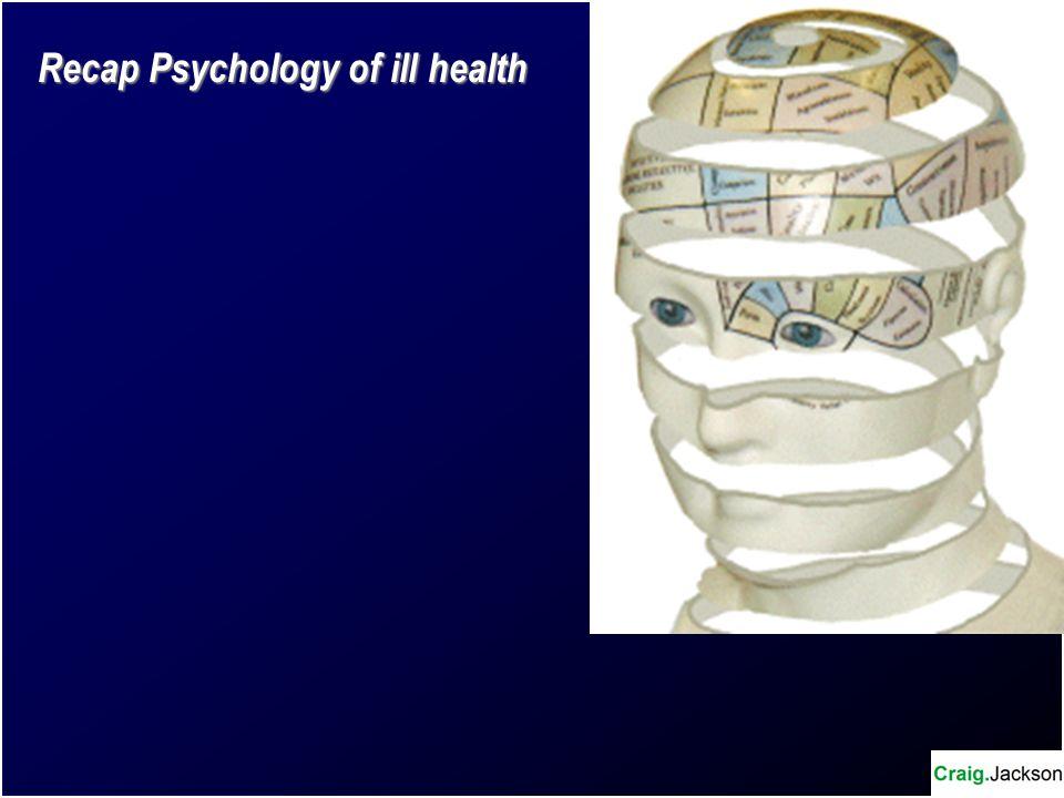 Recap Psychology of ill health