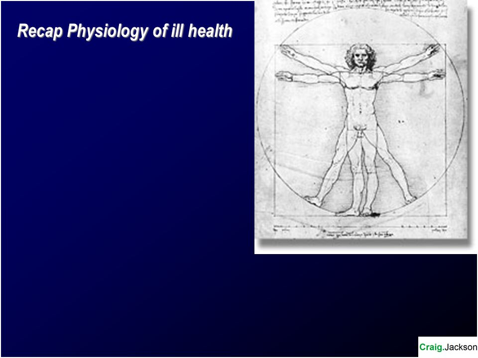 Recap Physiology of ill health