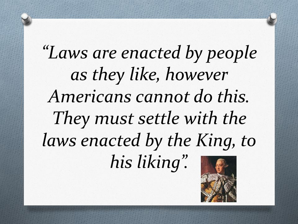 Laws are enacted by people as they like, however Americans cannot do this.