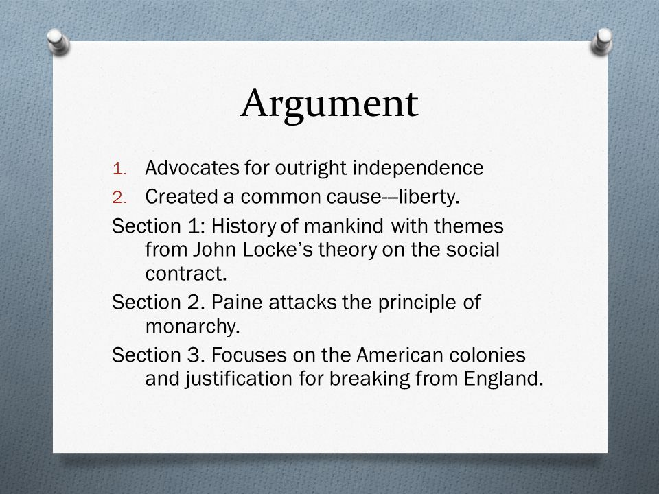 Argument 1. Advocates for outright independence 2.