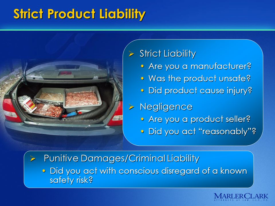Strict Product Liability  Negligence Are you a product seller Are you a product seller.