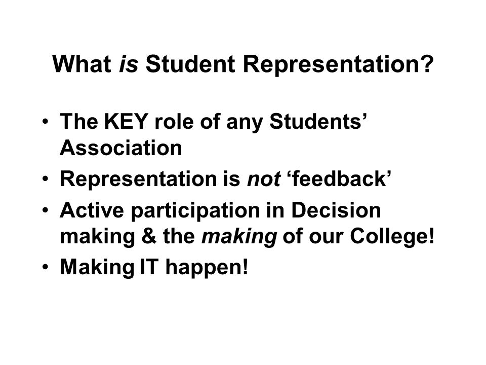 What is Student Representation.