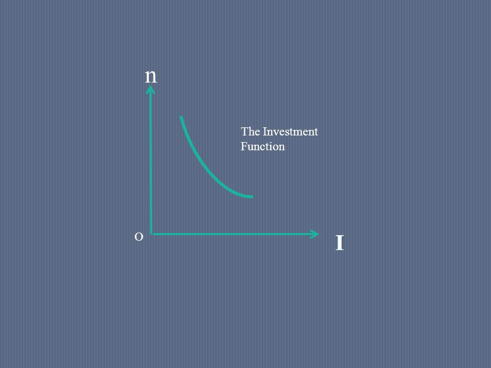 n O The Investment Function