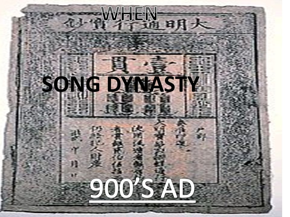 WHEN SONG DYNASTY