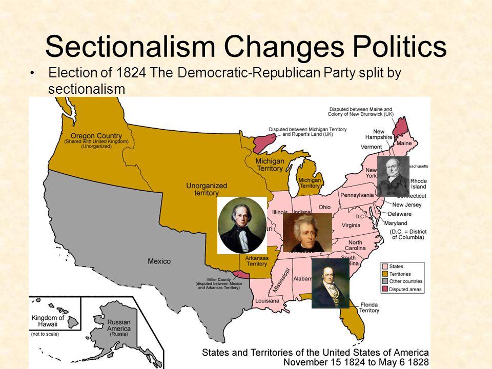 Adams Defeats Jackson in 1824 Jackson win popular vote No candidate wins the majority of the electoral votes.