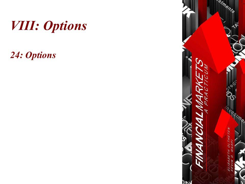 VIII: Options 24: Options
