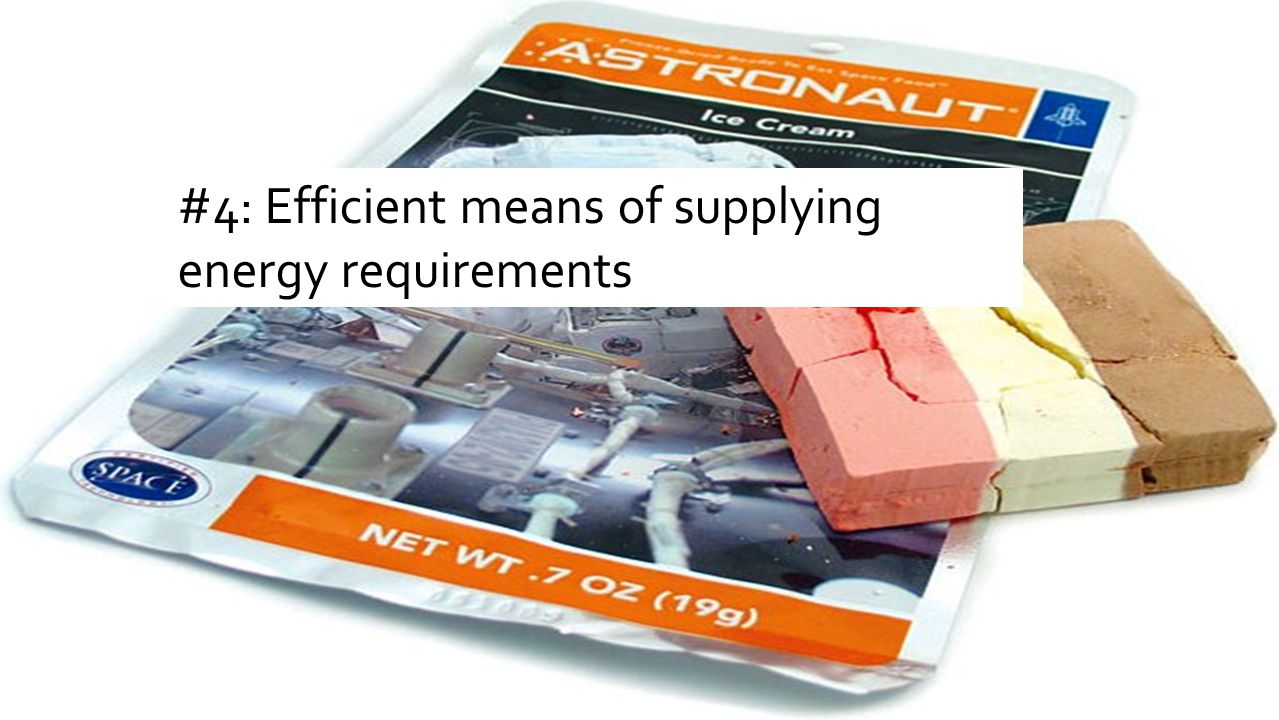 #4: Efficient means of supplying energy requirements