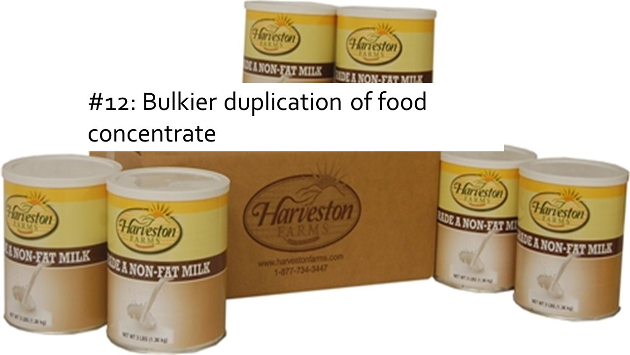 #12: Bulkier duplication of food concentrate