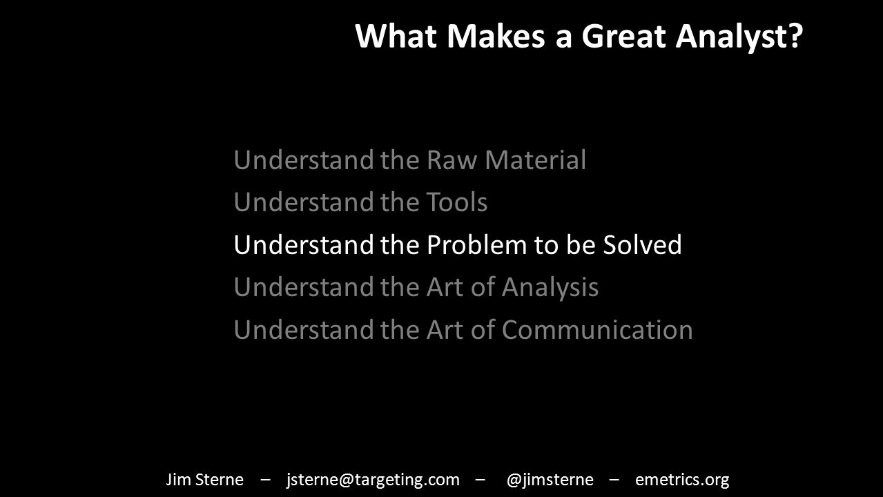 What Makes a Great Analyst.