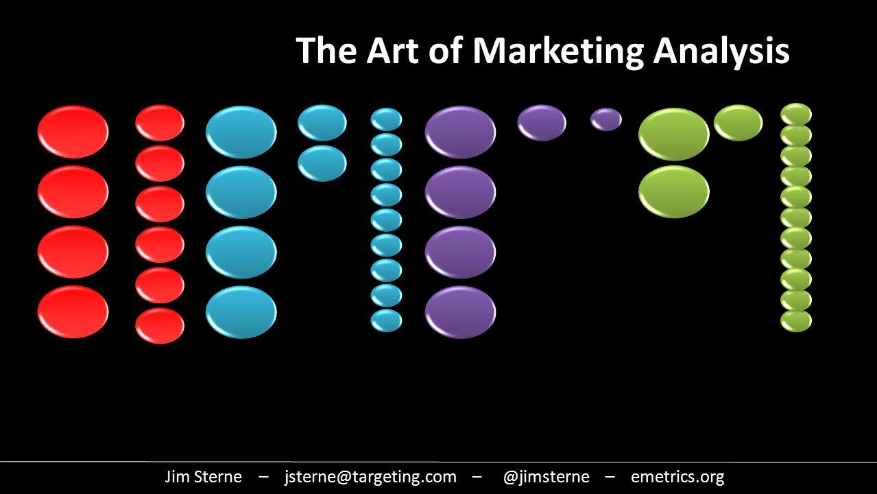 Jim Sterne – jsterne@targeting.com – @jimsterne – emetrics.org The Art of Marketing Analysis