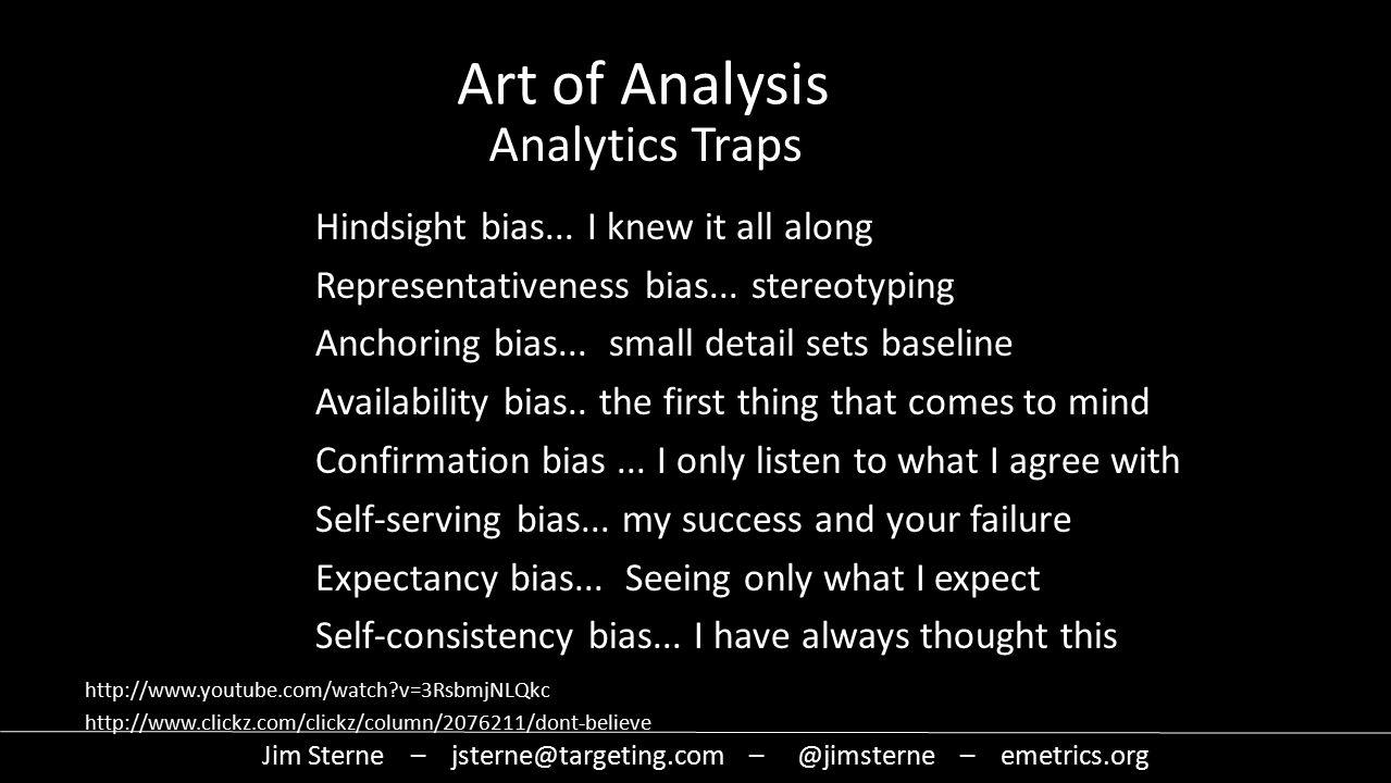 Hindsight bias... I knew it all along Representativeness bias...
