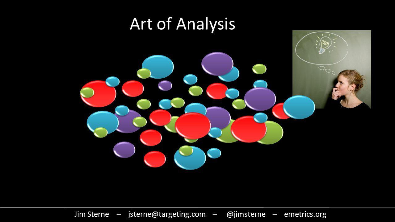 Art of Analysis Jim Sterne – jsterne@targeting.com – @jimsterne – emetrics.org