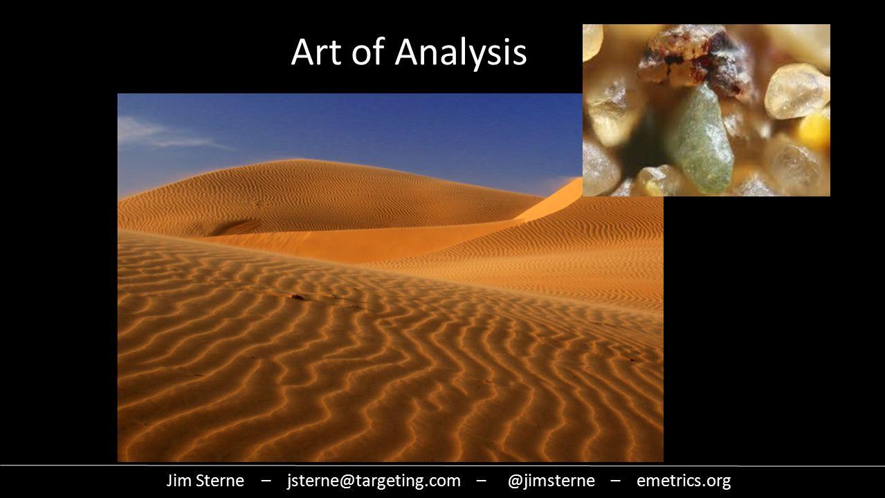 Data Art of Analysis Jim Sterne – jsterne@targeting.com – @jimsterne – emetrics.org
