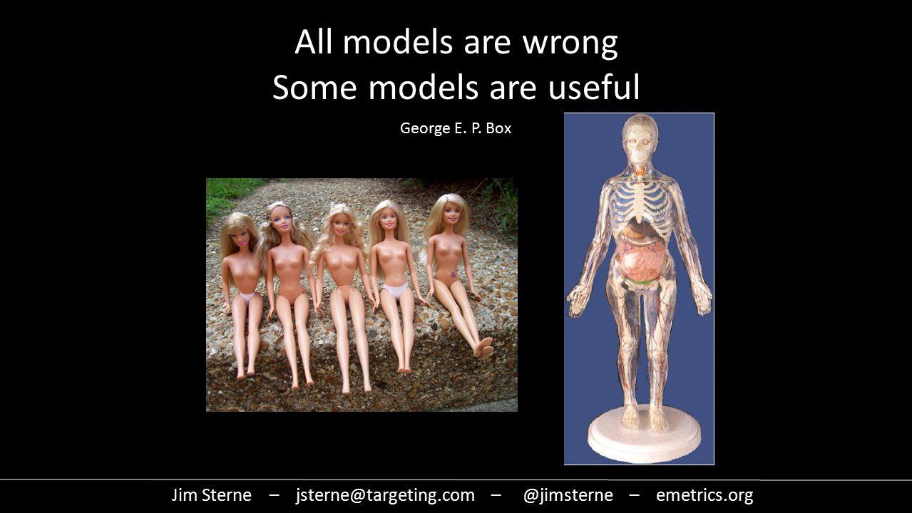 All models are wrong Some models are useful Jim Sterne – jsterne@targeting.com – @jimsterne – emetrics.org George E.
