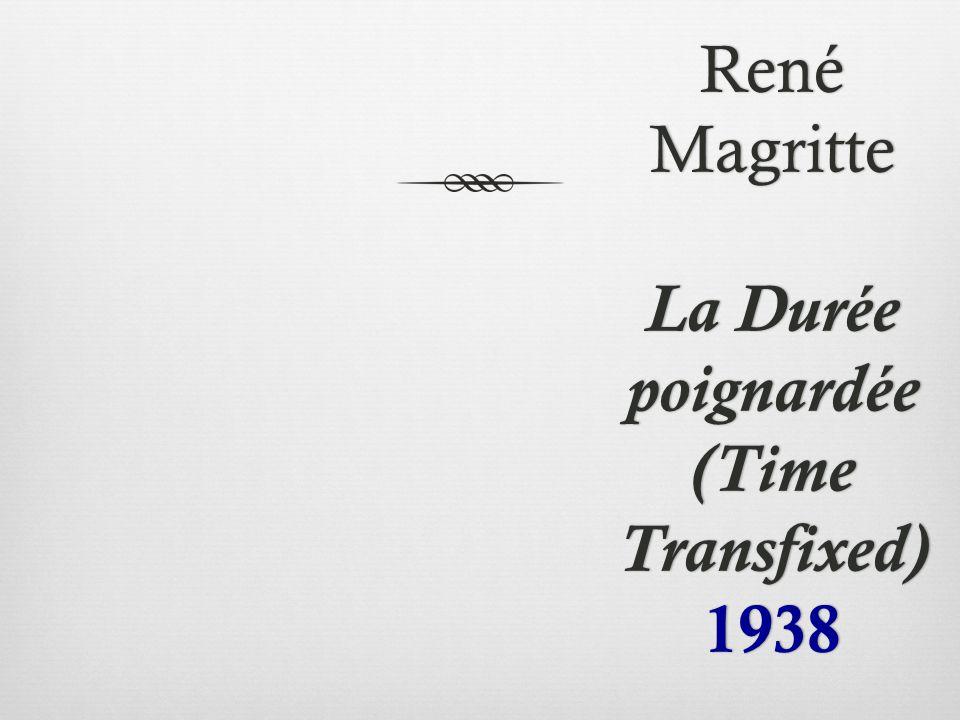 René Magritte La Durée poignardée (Time Transfixed) 1938