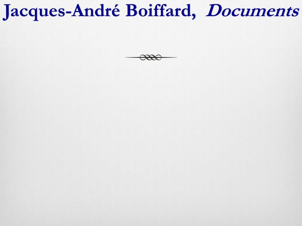 Jacques-André Boiffard, DocumentsJacques-André Boiffard, Documents