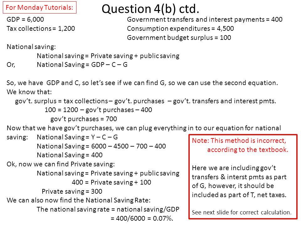 Question 4(b) ctd.