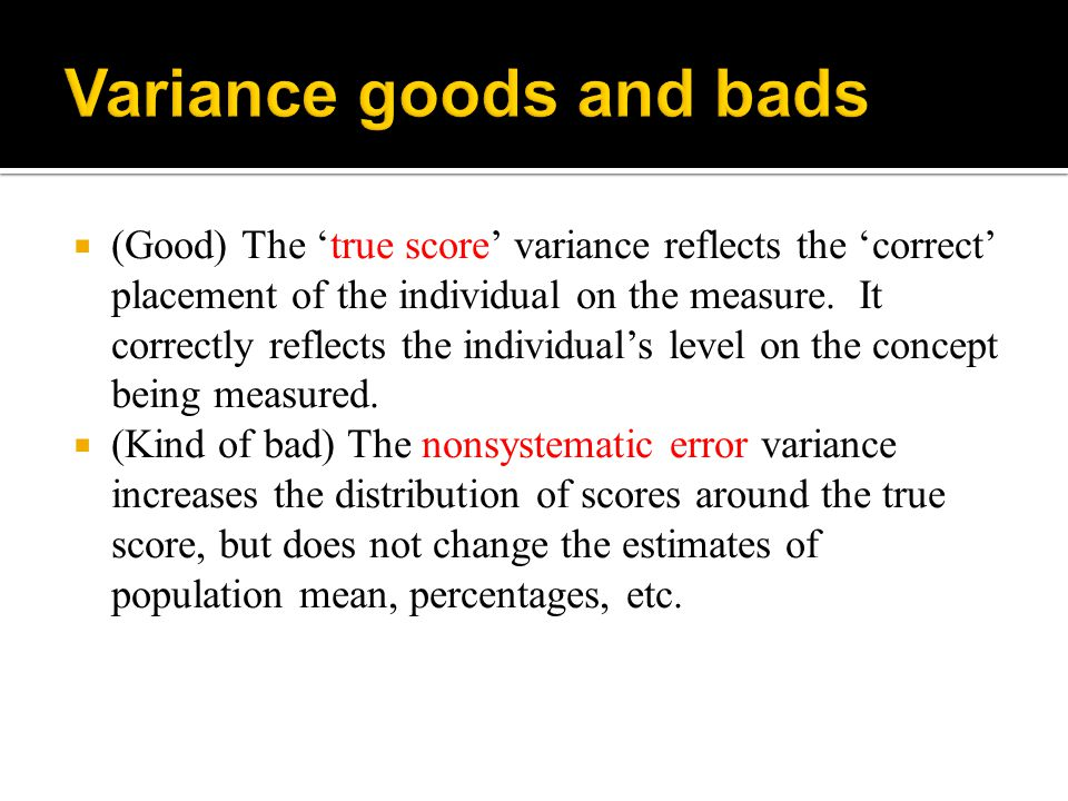  Performance on the measure to be validated is compared to scores on different but related concepts.