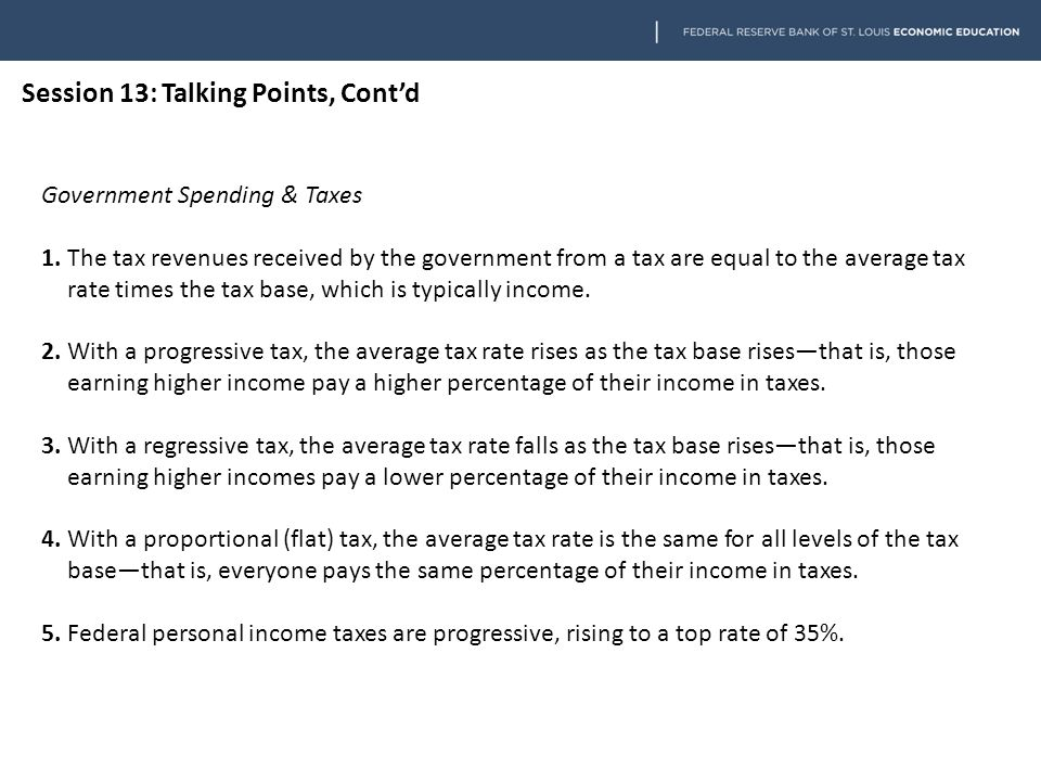 Government Spending & Taxes 6.