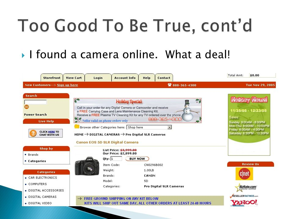  I found a camera online. What a deal!