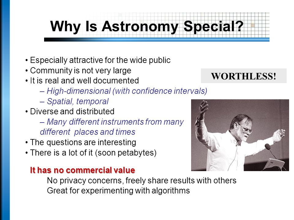 Why Is Astronomy Special.