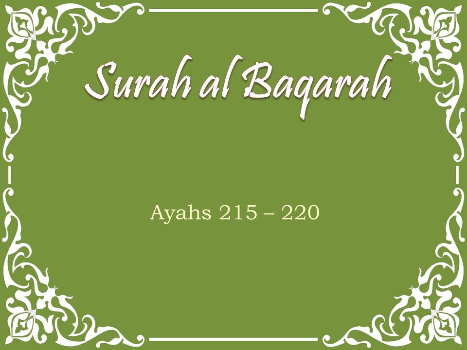 Ayahs 215 – 220
