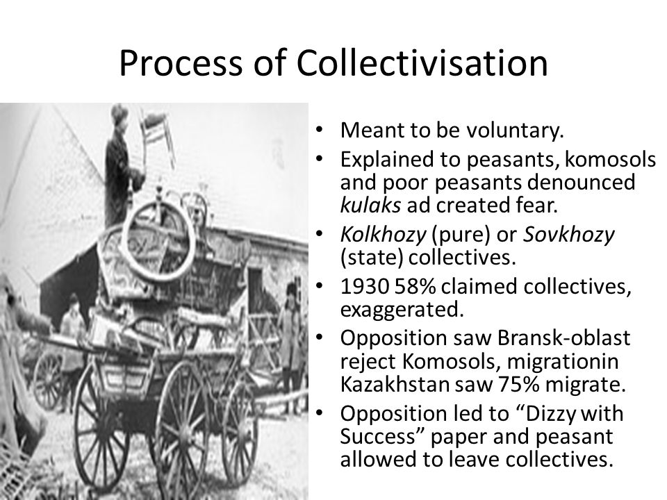 Process of Collectivisation Meant to be voluntary.