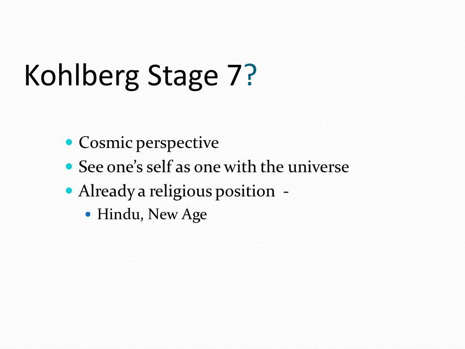 Kohlberg Stage 7.