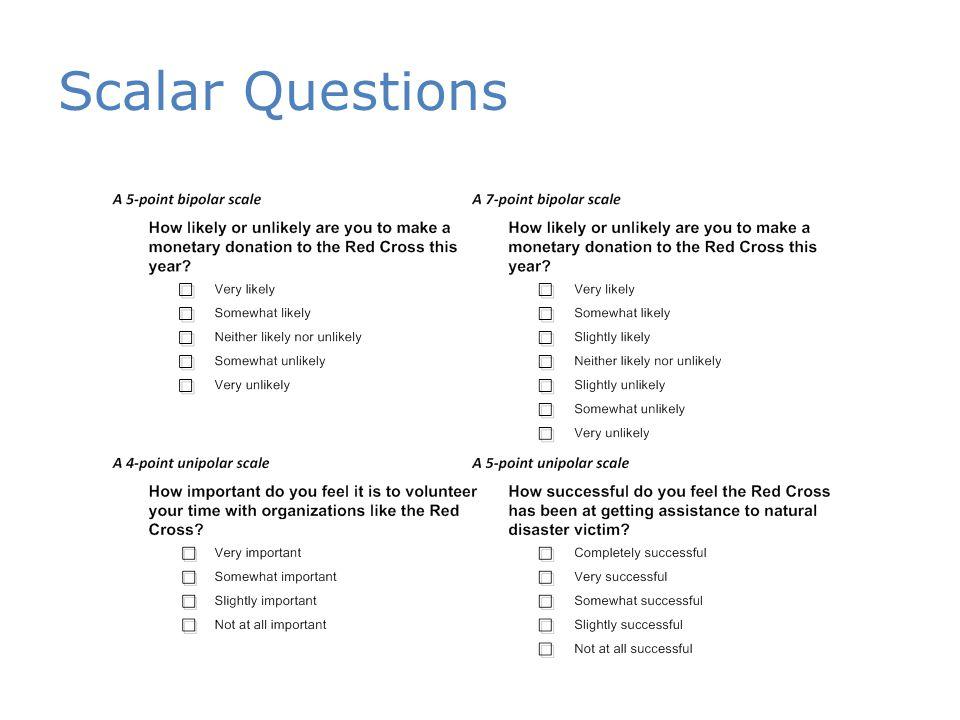 Scalar Questions