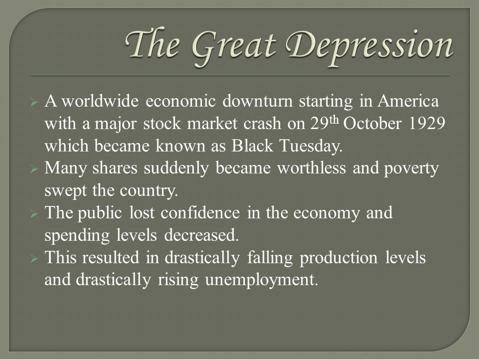 Life During the 1930s  The Great Depression sweeps the nation – Many families do not even have money for basic needs such as food, clothing, and shelter.