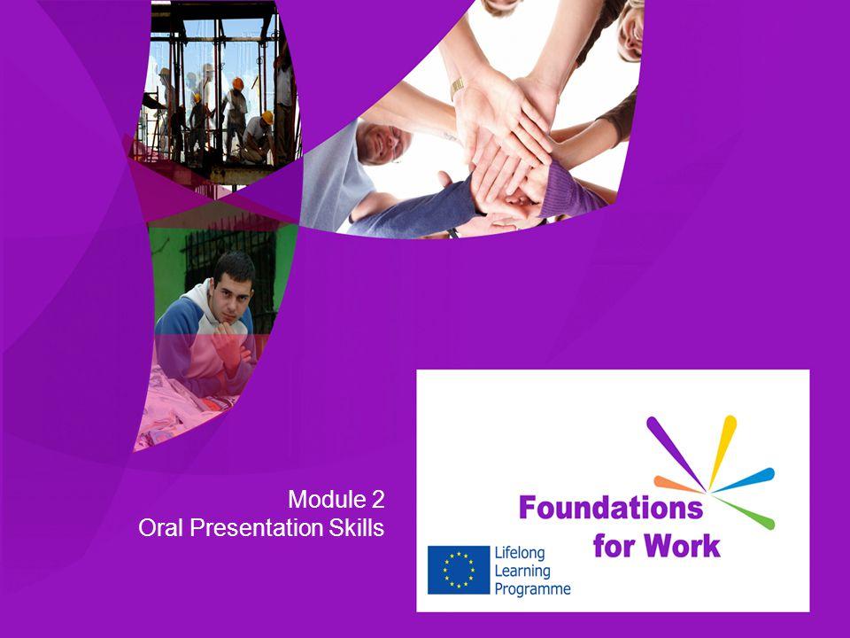 Module 2 Oral Presentation Skills