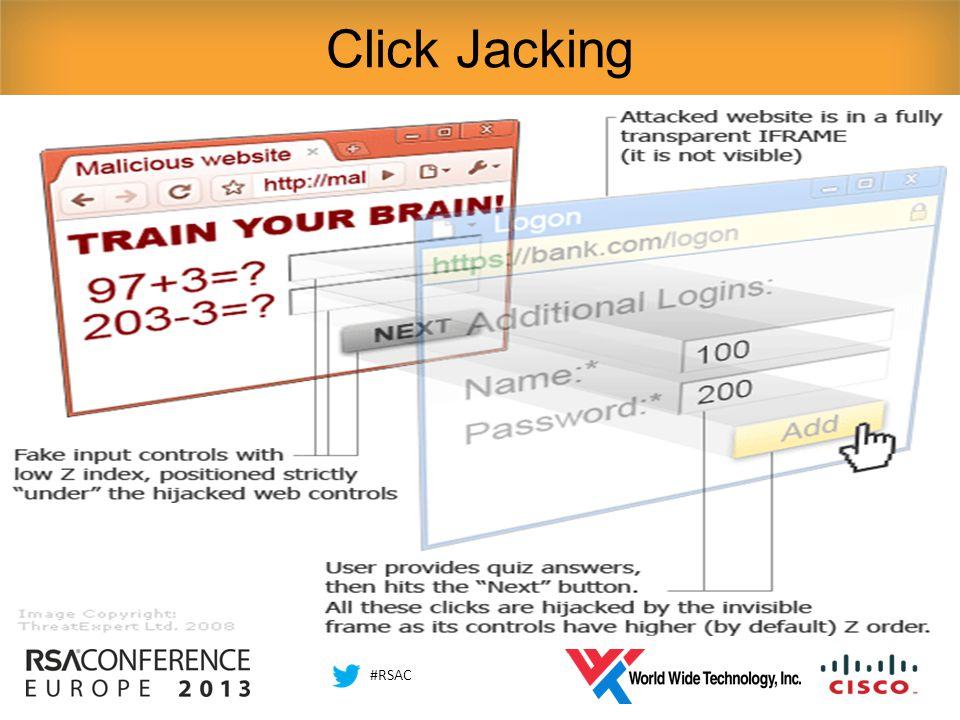 #RSAC Click Jacking