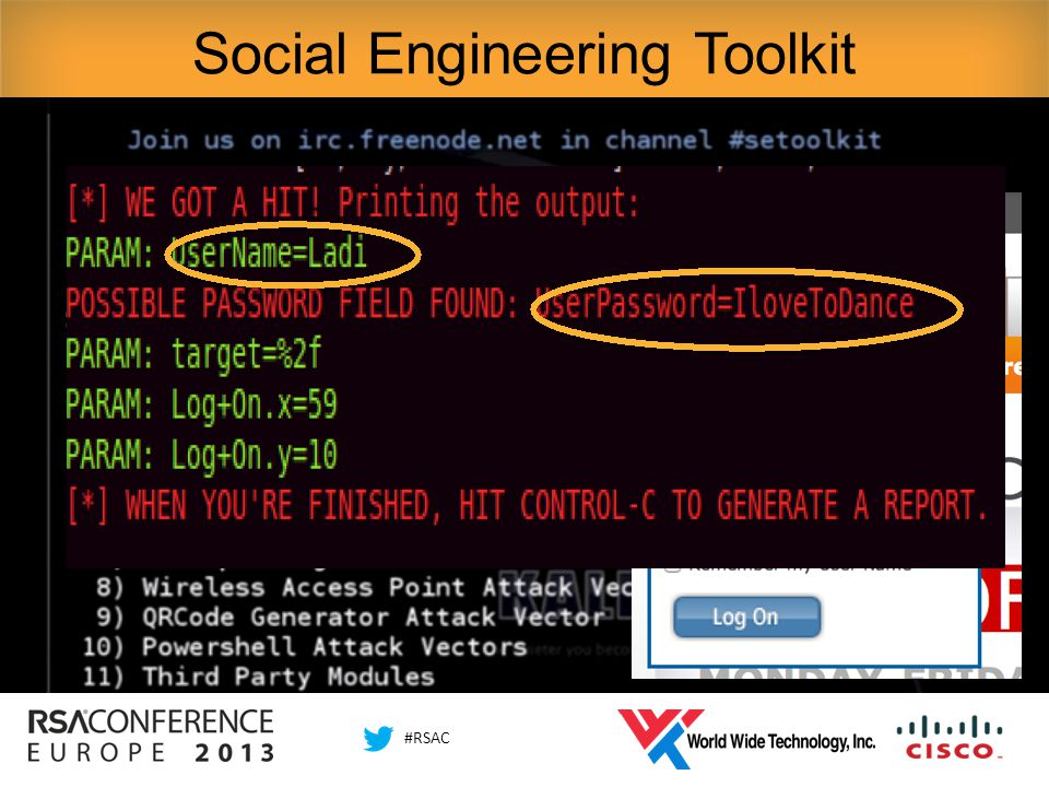 #RSAC Social Engineering Toolkit