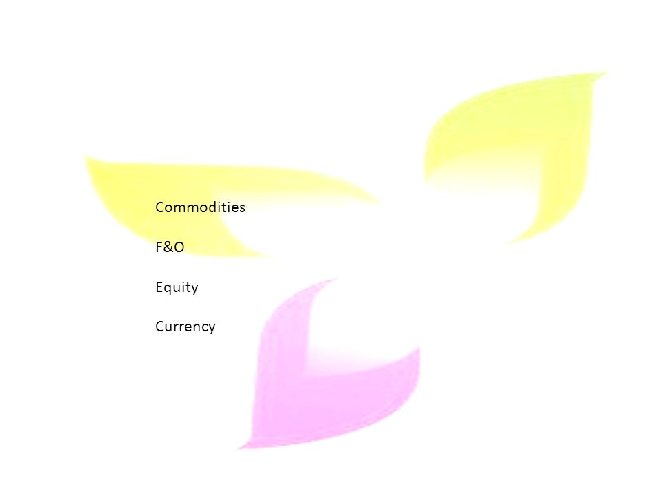 Commodities F&O Equity Currency