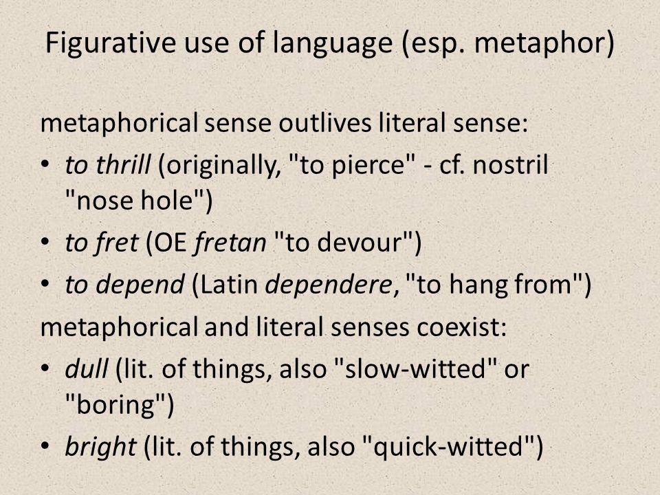 Figurative use of language (esp.