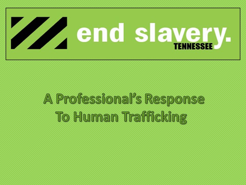 with Bringing people together to end human trafficking and slavery