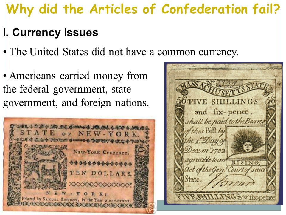 United States of America Articles of Confederation