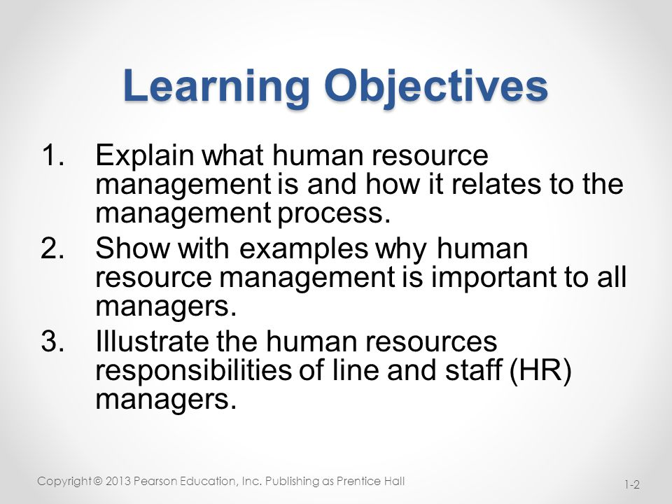 Important Trends in Human Resource Management Copyright © 2013 Pearson Education, Inc.