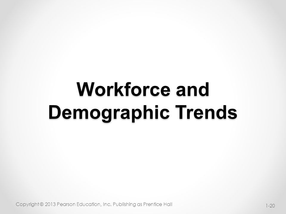 Workforce and Demographic Trends Copyright © 2013 Pearson Education, Inc.