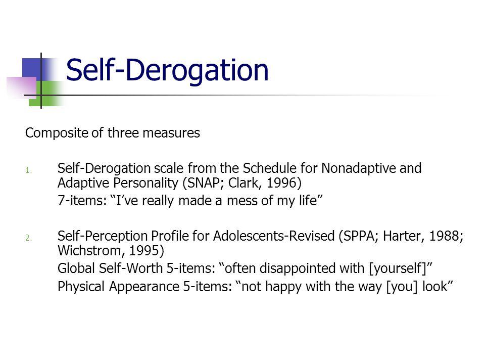 Self-Derogation Composite of three measures 1.