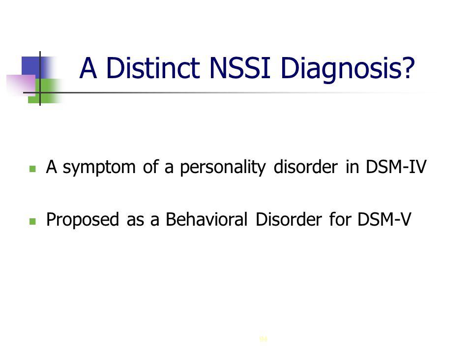 94 A Distinct NSSI Diagnosis.