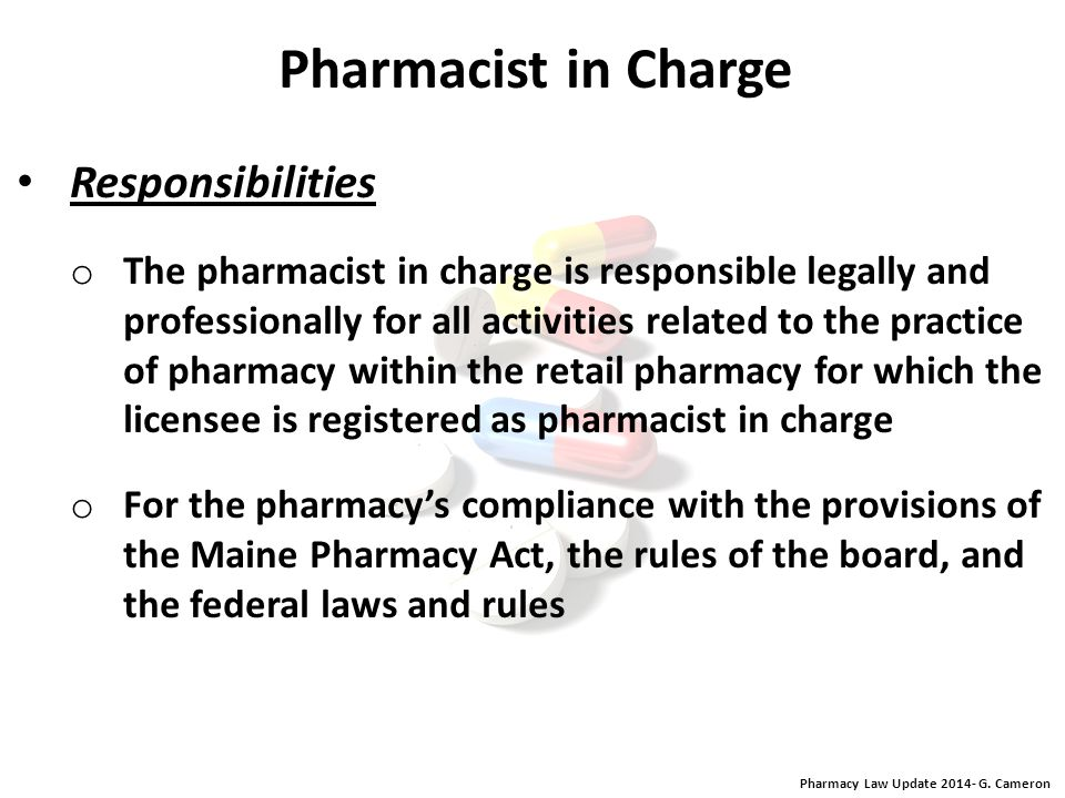 Pharmacy Law Update 2014- G. Cameron Pharmacy Intern Theft or Drug-Related Misconduct of Pharmacy Intern any resignation or discharge from an internsh