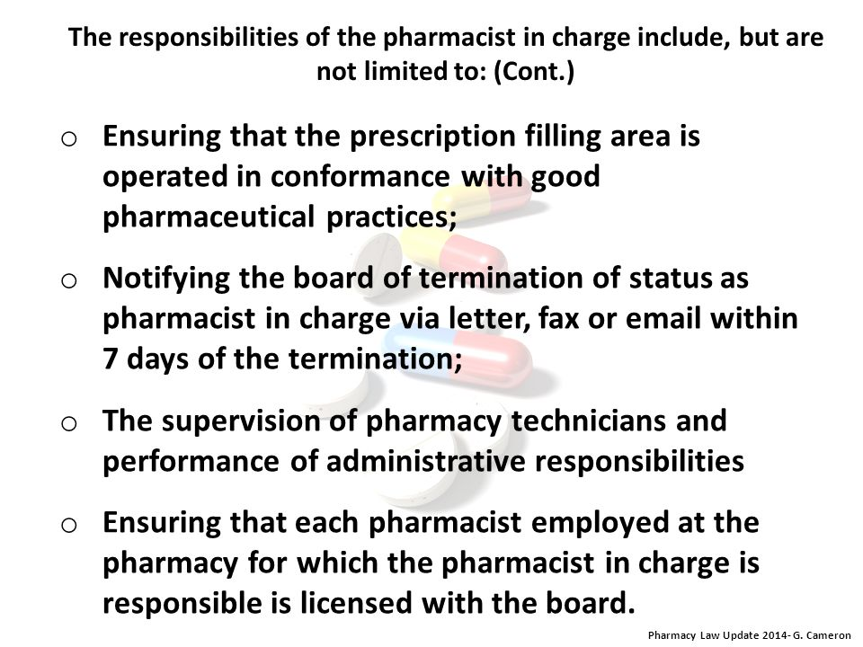 Pharmacy Law Update 2014- G. Cameron Orders for HCPs. Every DEA registrant who distributes HCPs must comply with order form requirements, pursuant to
