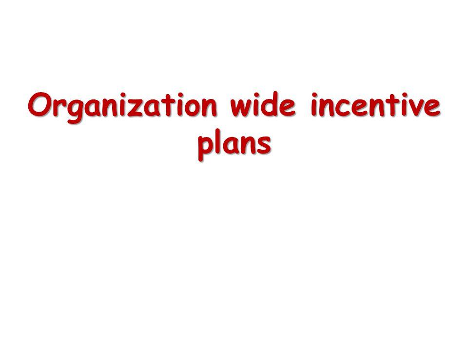 Organization wide incentive plans