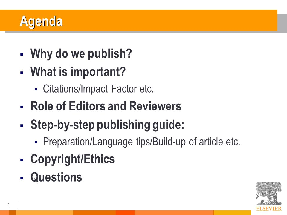 Why Scientific Publishing ?