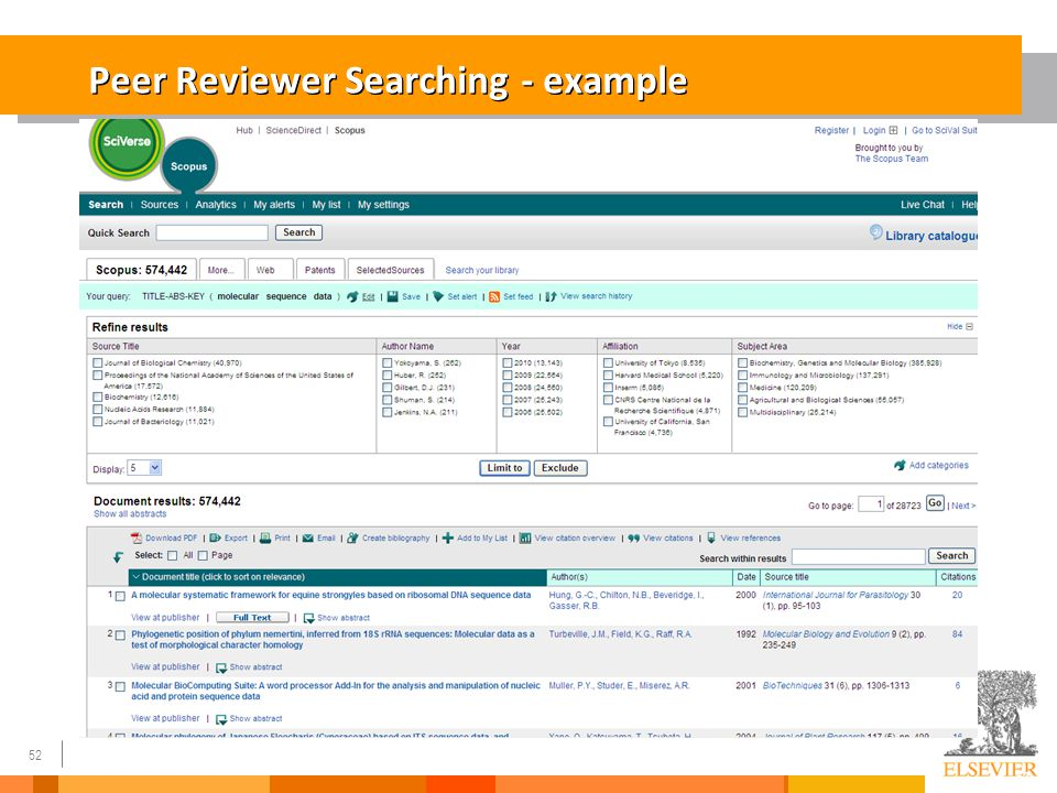 52 Peer Reviewer Searching - example 52